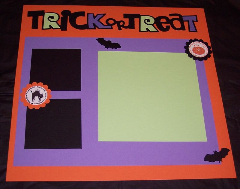 Scrapbook page 1oct 2011