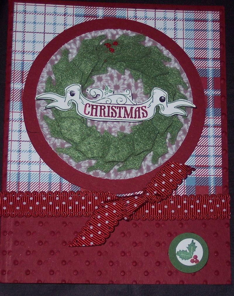 Felt wreath card