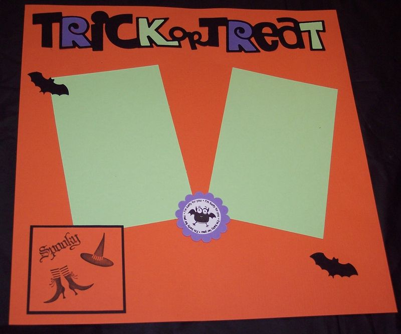 Scrapbook page oct 2011