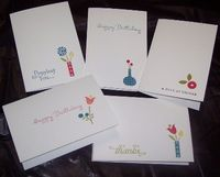 Bright Blossom note cards