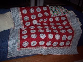 Candy cane whole quilt