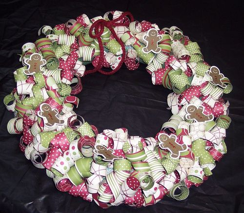 2012 Christmas wreath with gingerbread