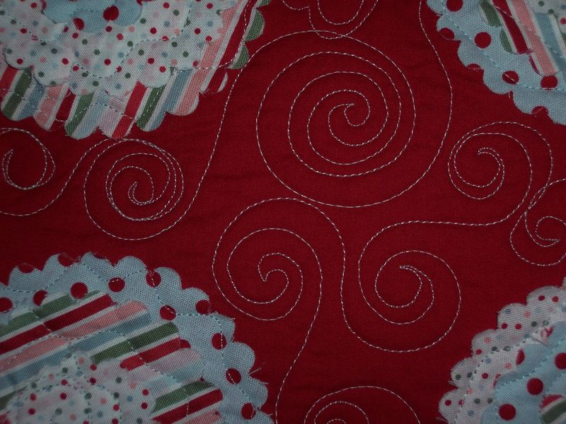 Candy cane quilting