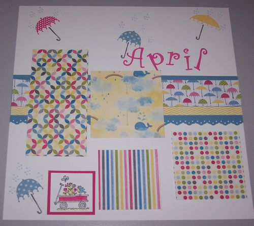 2013 Scrapbook Pages 1 April