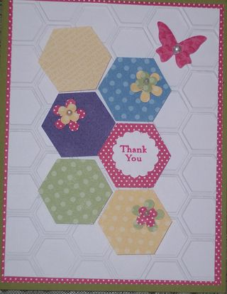 Beverley B Card Hexagon