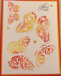 Butterfly with water color