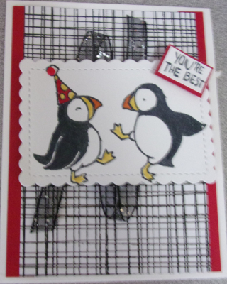 Puffins card on tour