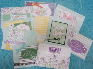 10 cards hand penned mem &more